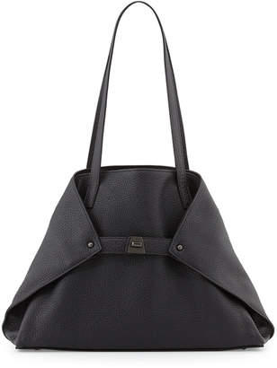 Akris Ai Small Leather Shoulder Tote Bag