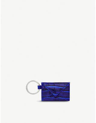 Smythson Mara envelope leather keyring