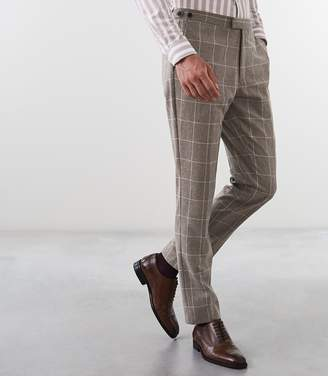Reiss Bodium T Slim Fit Checked Trousers