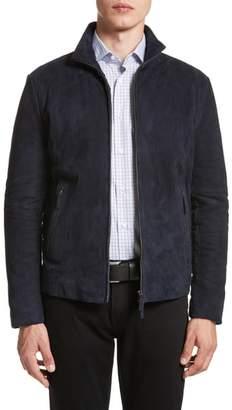 Armani Collezioni Regular Fit Mixed Media Jacket