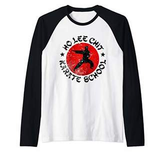 Lee Ho Chit Karate School Vintage Funny Raglan Baseball Tee
