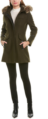 Trina Turk Trina Trina By Hooded Wool-Blend Coat