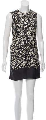 Marc Jacobs Sleeveless Printed Dress Grey Sleeveless Printed Dress
