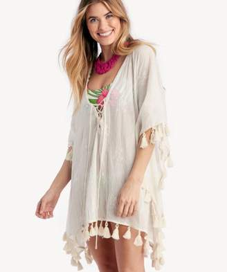 Sole Society Lace-up Kaftan with Tassels