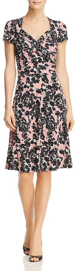 Leota Sweetheart Floral Print Dress