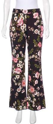 Giambattista Valli Floral High-Rise Pants