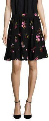 Kate Spade New York In Bloom Crepe Skirt