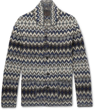 Altea Intarsia Wool-Blend Cardigan