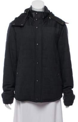 Vince Down Wool Hooded Jacket