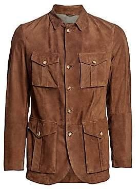 Brunello Cucinelli Men's Suede Safari Jacket