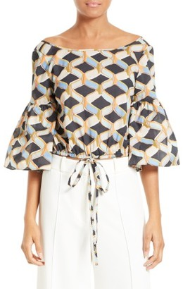 Women's Milly Lydia Chain Print Top $325 thestylecure.com
