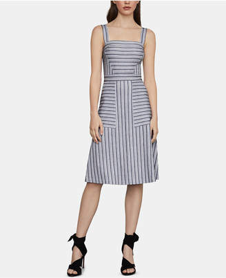 BCBGMAXAZRIA Striped Fit & Flare Dress