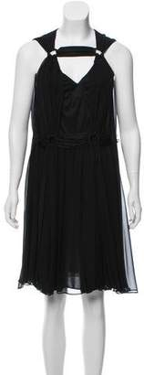 Mayle Silk Sleeveless Knee-Length Dress