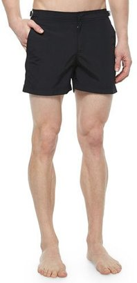 Orlebar Brown Setter Short-Length Swim Trunks, Black $230 thestylecure.com