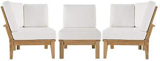 One Kings Lane Marina Outdoor Patio Teak Sofa - Set of 3