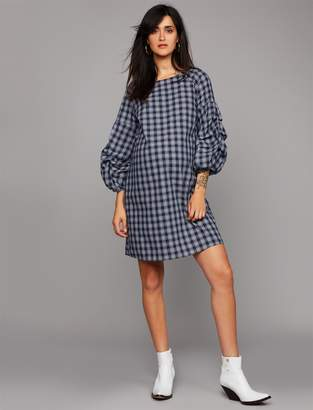 A Pea in the Pod Plaid Ruffle Sleeve Maternity Dress