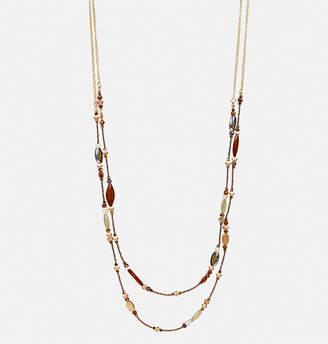 Avenue Bronze Multi Bead Long Necklace