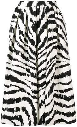 MSGM zebra print midi skirt