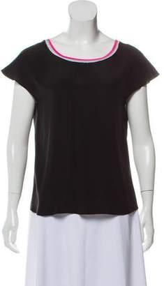 Jonathan Simkhai Silk Short Sleeve Top