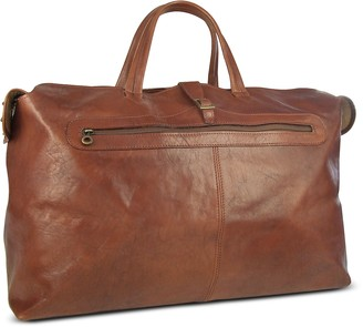 Robe Di Firenze Large Brown Italian Leather Carry All Travel Bag