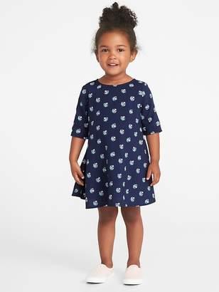 Old Navy Printed Swing Dress for Toddler Girls