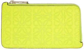 Loewe Yellow Anagram Coin Card Holder