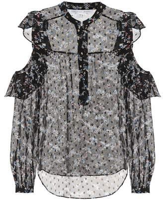 Veronica Beard Cora printed silk-blend blouse