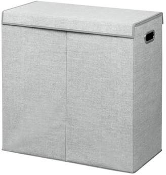 InterDesign Grey Aldo Double Clothes Hamper