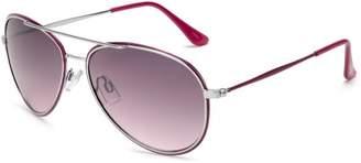 Southpole Womens 334SP SLVPK Aviator Sunglasses