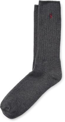 Ralph Lauren Cotton-Blend Crew Socks