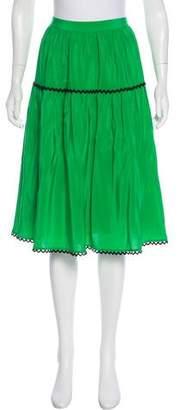 Kenzo Silk A-Line Skirt