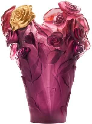 Daum Rose Passion Vase
