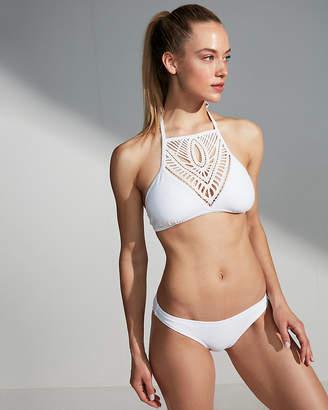 Express Crochet Front Halter Bikini Top