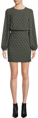 Fame & Partners The Rivera Polka Dot Long-Sleeve Dress