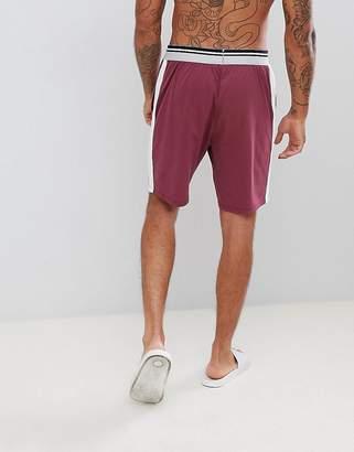 Asos Design Pyjama Shorts In Short Length With Stripe Waistband