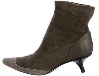 Hogan Suede Pointed-Toe Ankle Boots