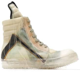 Rick Owens Babel Geobasket hi-top sneakers