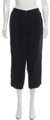 La Garçonne Moderne Mid-Rise Linen-Blend Straight Pants