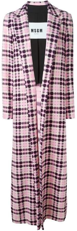 MSGM checked long coat