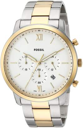 Fossil Men's 'Neutra Chrono' Quartz Stainless Steel Casual Watch, Color:-Toned (Model: FS5385)