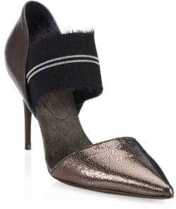 Brunello Cucinelli Metallic Point-Toe Pumps