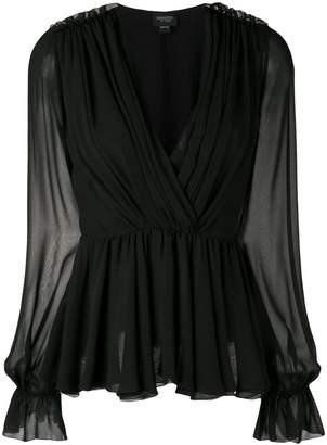 Giambattista Valli wrap front blouse