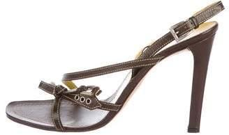 Prada Leather High-Heel Sandals