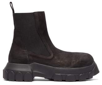 Rick Owens Exaggerated Sole Leather Chelsea Boots - Womens - Black
