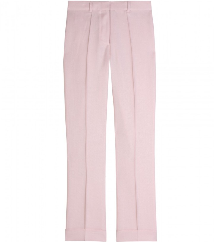 Stella McCartney CANVAS OPTIC CROPPED PANTS