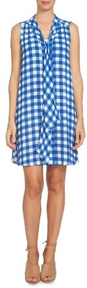Women's Cece Tie Front Shift Dress $129 thestylecure.com