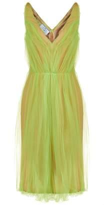 Prada Tulle Overlay Dress