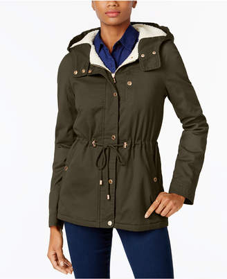 Macy's Juniors' Faux-Fur-Lined Anorak, Created for