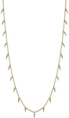 Sydney Evan Pave Diamond Fringe Drop Necklace