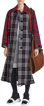 Burberry Check and Tartan Cotton Trench Coat
